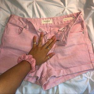 High Waist Cuffed No Rip Shorts